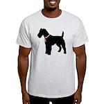 Fox Terrier Breast Cancer Support Light T-Shirt