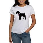Fox Terrier Breast Cancer Support Women's T-Shirt