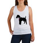Fox Terrier Breast Cancer Support Women's Tank Top
