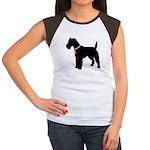 Fox Terrier Breast Cancer Support Women's Cap Slee
