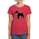 Fox Terrier Breast Cancer Support Women's Dark T-S