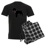 Fox Terrier Breast Cancer Support Men's Dark Pajam