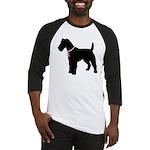 Fox Terrier Breast Cancer Support Baseball Jersey