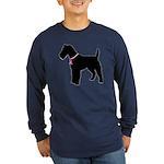 Fox Terrier Breast Cancer Support Long Sleeve Dark