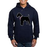 Fox Terrier Breast Cancer Support Hoodie (dark)