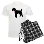 Fox Terrier Breast Cancer Support Men's Light Paja