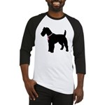 Fox Terrier Breast Cancer Support Baseball Jersey