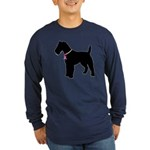 Fox Terrier Breast Cancer Support Long Sleeve Dark
