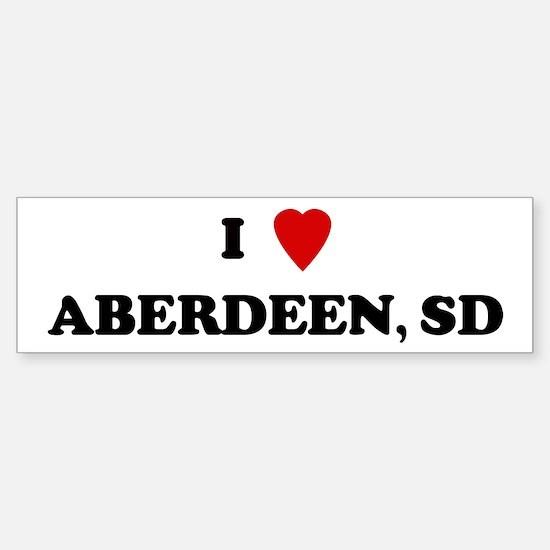 I Love Aberdeen Bumper Bumper Bumper Sticker