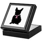 French Bulldog Breast Cancer Support Keepsake Box