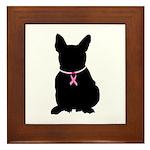 French Bulldog Breast Cancer Support Framed Tile