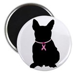 French Bulldog Breast Cancer Support Magnet