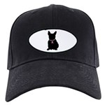 French Bulldog Breast Cancer Support Black Cap