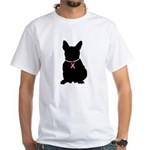 French Bulldog Breast Cancer Support White T-Shirt