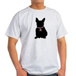 French Bulldog Breast Cancer Support Light T-Shirt