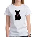 French Bulldog Breast Cancer Support Women's T-Shi