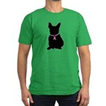 French Bulldog Breast Cancer Support Men's Fitted