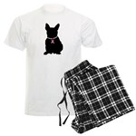 French Bulldog Breast Cancer Support Men's Light P