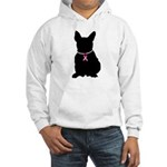 French Bulldog Breast Cancer Support Hooded Sweats