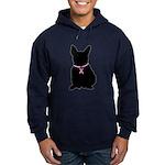 French Bulldog Breast Cancer Support Hoodie (dark)