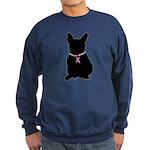 French Bulldog Breast Cancer Support Sweatshirt (d