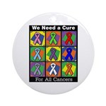 We Need a Cure Ornament (Round)