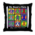 We Need a Cure Throw Pillow