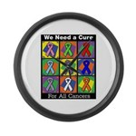 We Need a Cure Large Wall Clock