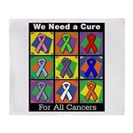 We Need a Cure Throw Blanket
