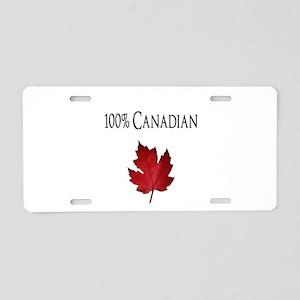100% Canadian Aluminum License Plate