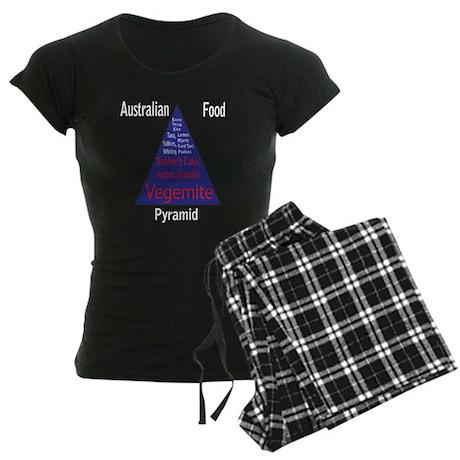 Australian Food Pyramid Women's Dark Pajamas