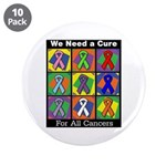 """We Need a Cure 3.5"""" Button (10 pack)"""