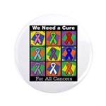 """We Need a Cure 3.5"""" Button"""
