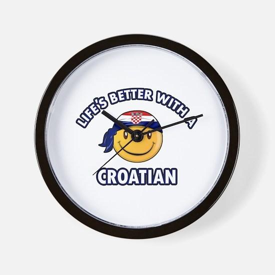 Cute Croatian designs Wall Clock