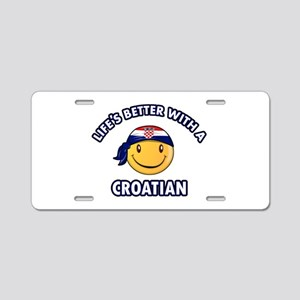 Cute Croatian designs Aluminum License Plate