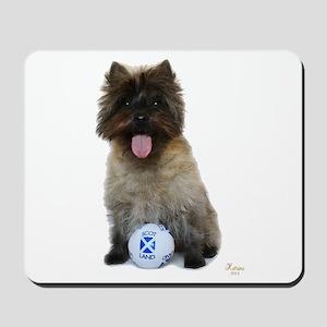 Cairn Terrier Football Scotland Mousepad