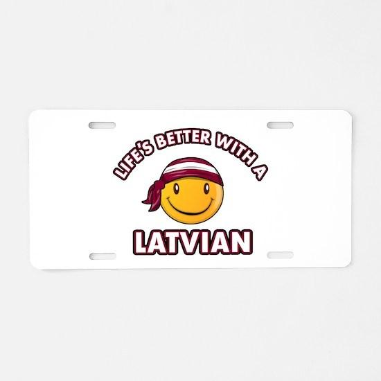 Cute Latvian design Aluminum License Plate