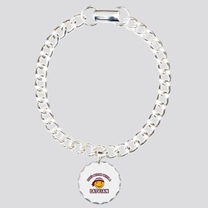 Cute Latvian design Charm Bracelet, One Charm