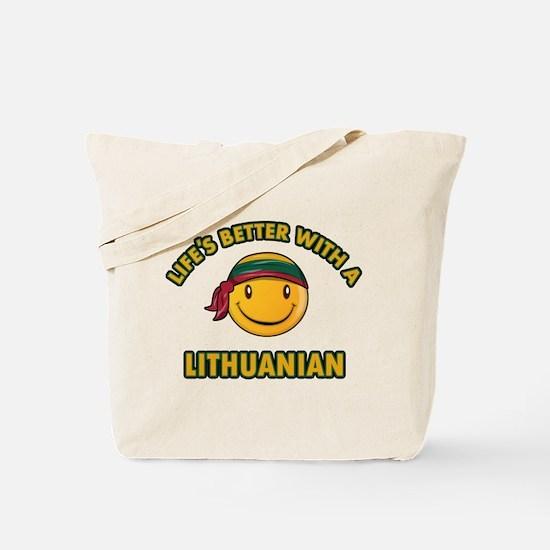 Cute Lithuanian design Tote Bag