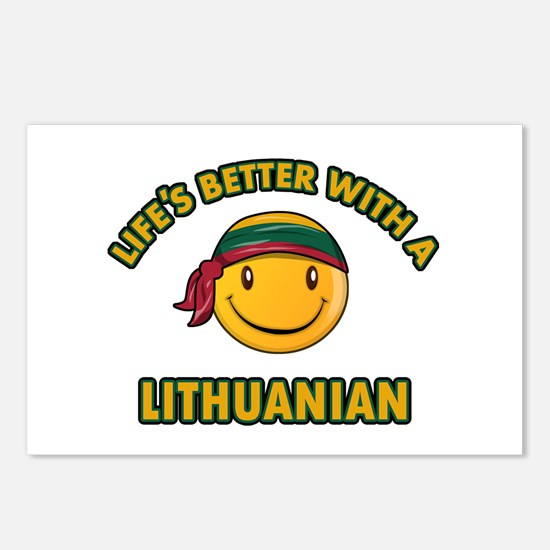 Cute Lithuanian design Postcards (Package of 8)