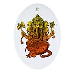 Ganesha7 Ornament (Oval)