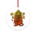 Ganesha7 Ornament (Round)