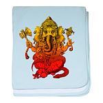 Ganesha7 baby blanket