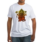 Ganesha7 Fitted T-Shirt