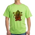 Ganesha7 Green T-Shirt