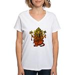 Ganesha7 Women's V-Neck T-Shirt