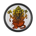 Ganesha7 Large Wall Clock