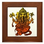 Ganesha7 Framed Tile