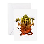 Ganesha7 Greeting Cards (Pk of 10)