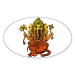 Ganesha7 Sticker (Oval)
